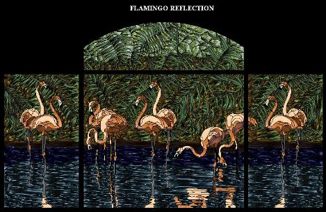 Flamingo Reflection pattern