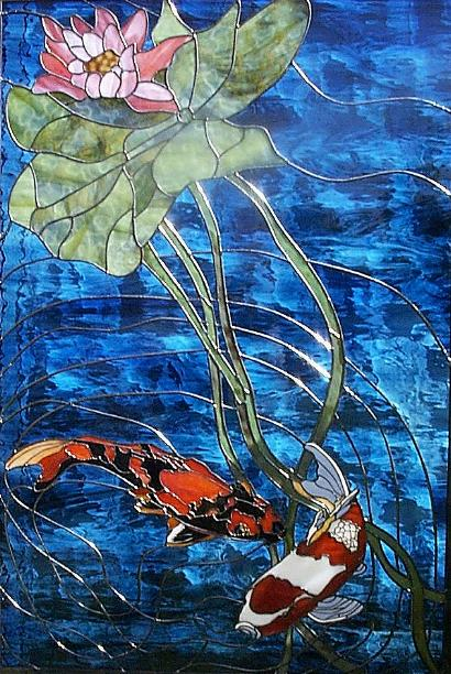 Koi Dance Stained Glass