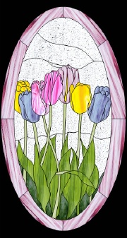 Best glass tulip cluster glass painting patterns for Best glass painting designs