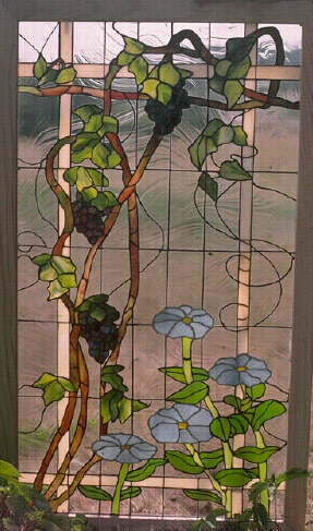 Grape Arbor Stained Glass Window /