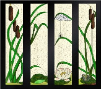 Flower Stained Glass Patterns 80 Stained Glass Designs On Cd