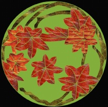 Stained Glass Pattern Mosaic Maple Leaf