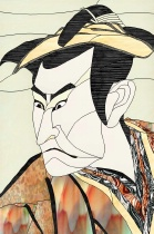 Stained Glass Pattern Noh Theater Actor