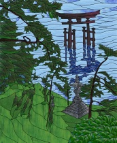 Stained Glass Pattern Torii