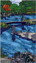 Stained Glass Pattern Water Garden