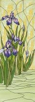 Stained Glass Pattern Water Iris