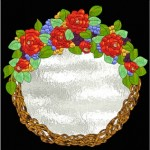 Stained Glass Pattern: Flower Wreath Mirror