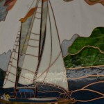 Johns Hopkins Hospital - Hackerman-Patz -Stained Glass Window - Sailboat Foiled