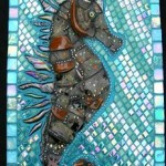 Love Mosaics?  This Seahorse uses Broken Teapot, Tile, Glass & More