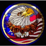 Vic Gordon - American Eagle Stained Glass Panel