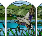 Stained Glass Firescreen - Mallard PE Studios