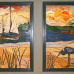 Johns Hopkins Hospital - Hackerman Patz Bldg - Chesapeake Bay Stained Glass Windows c Paned Expressions Studios
