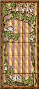 "Jan 2014 Free Stained Glass Pattern  ""nouveau-moonflower"" Paned Expressions Studios"