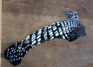 Etched Loon - Flashed glass