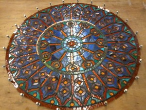 Stained Glass Mandala Repair - In Progress