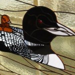 Loon Etch- Stained Glass -Design © Paned Expressions Studios 2003 Fabrication - Talmadge Flanagan