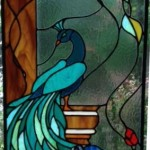 Peacock Stained Glass design © Paned Expressions 2012 Fabricated by Maria Kauffman