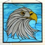 "Paned Expressions ""Eagle"" Custom Stained Glass Pattern on ""Windows of the West"" Blog"