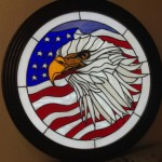 Eagle Flag Stained Glass Panel Design © 2015 Paned Expressions Studios - Fabricated by Vic Gordon