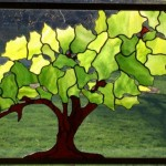 Tree of Life Stained Glass Panel Fabricated by Jack Driscoll