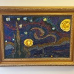 """Van Gogh's Starry Night"" Stained Glass Panel Design © 2015 Paned Expressions Studios - Adapted/Fabricated by Scott Warner"
