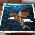 Eagle Stained Glass Mosaic Table TopDesign © 2015 Paned Expressions Studios - Fabricated by Emma Roberts