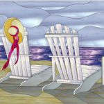 """Summer Solstice"" Beach Scene Stained Glass Pattern Downloadable"