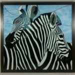 "Wonderful Zebra Mosaic by John Michael from ""Into Africa"" CD Stained Glass Pattern"