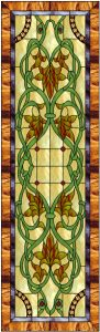 Victorian Cabinet Door Stained Glass Design © 2008 Paned Expressions Studios